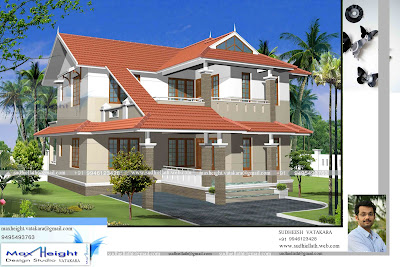 Pastiche permission six 3d house elevation for your dream for Dream house 3d