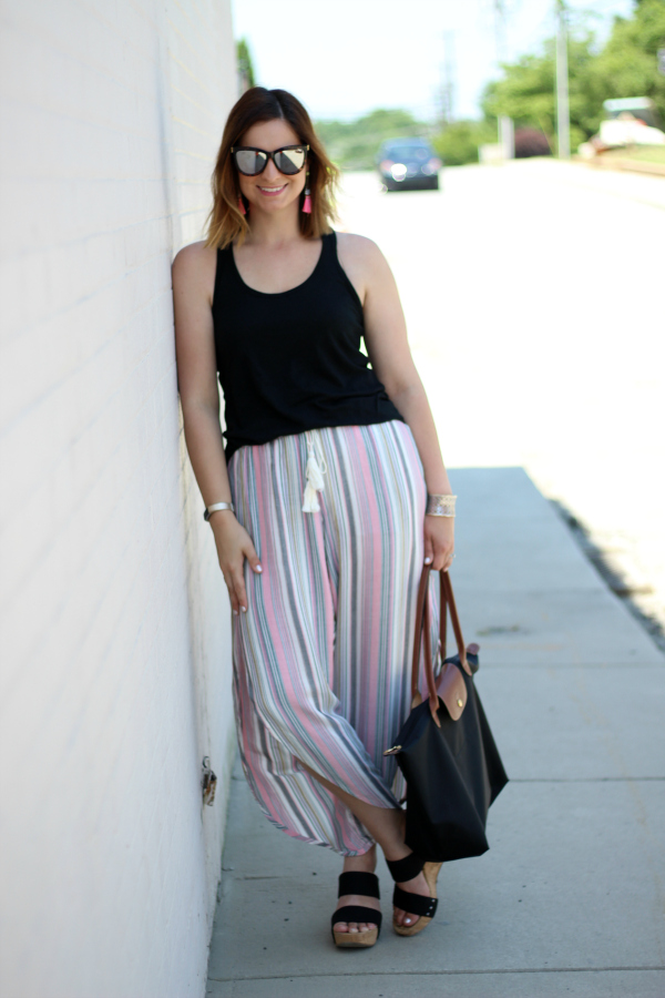 mom style, style on a budget, how to wear striped pants, summer style