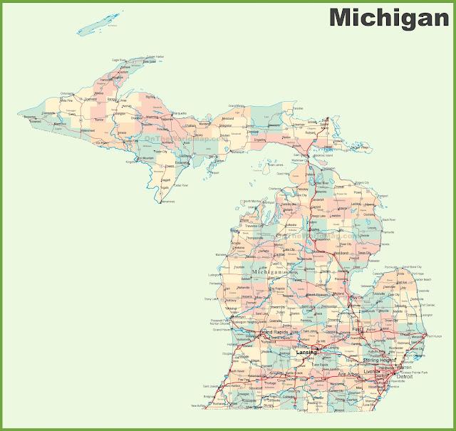 United States Map Map Of USA - Michigan map united states