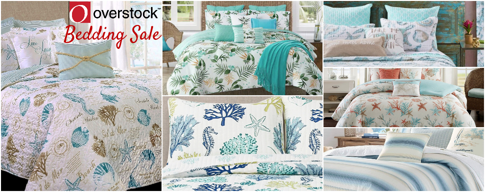 Coastal Bedding Sale Overstock