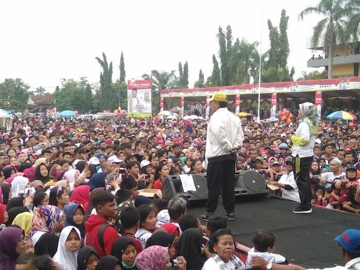 Di Hadapan Ribuan Masyarakat Arinal - Nunik Sepakat Bangun Sektor Pertanian Provinsi Lampung