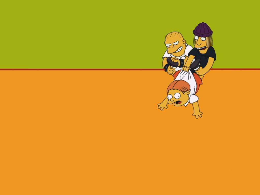Cartoon Girl And Boy Wallpaper Imagenes Hilandy Fondo De Pantalla Los Simpsons Martin