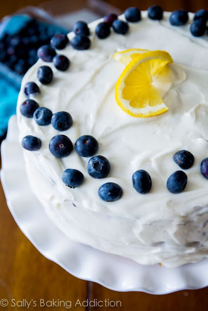 How to get together as well as frost this layer cake Lemon Blueberry Layer Cake