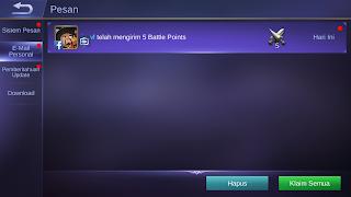 cara mengambil battle points yang sudah dikirim mobile legends