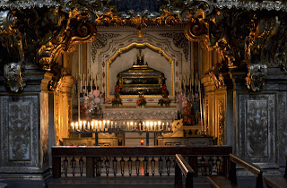 The Chapel of Saint Patricia inside the Church of  San Gregorio Armeno in the centre of Naples