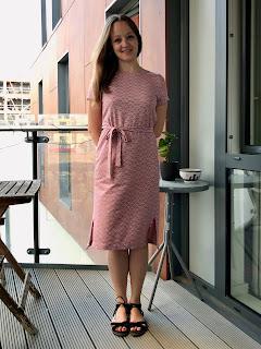 Pink Textured Ponte Inari Dress