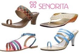 Flat 65% Off on Liberty Senorita Women's Snadals starts from Rs.384 @ Amazon