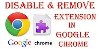 how to uninstall a extensions in chrome