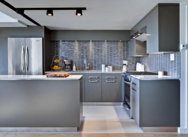 Fotos De Cocinas Grises Ideas Para Decorar Disenar Y Mejorar Tu Casa - Cocinas-en-gris