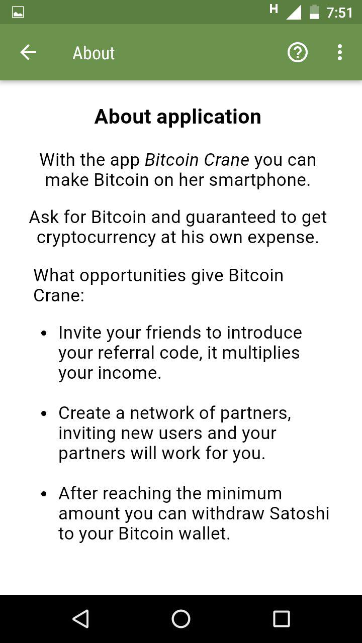 Bitcoin Crane : Earn Bitcoin in Android  Automate using Tasker