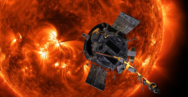 Illustration of Parker Solar Probe approaching the Sun. Credits: NASA/Johns Hopkins APL/Steve Gribben