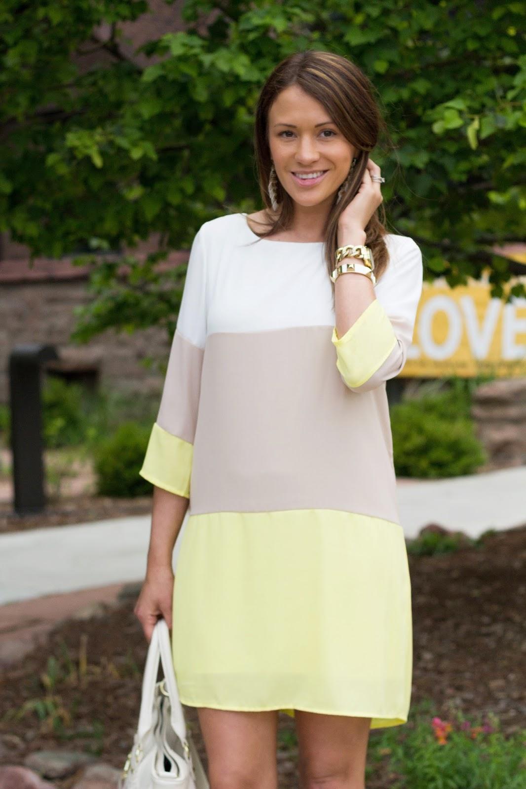 Introducing Lulu S Color Block Shift Dress