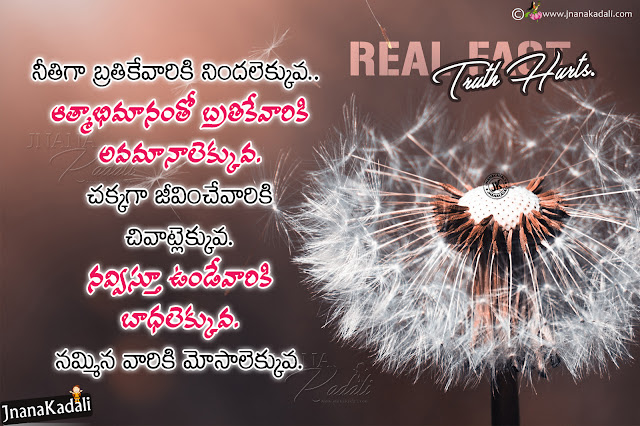 telugu messages on life, true life thoughts, realistic life quotes in telugu, famous words on life in telugu