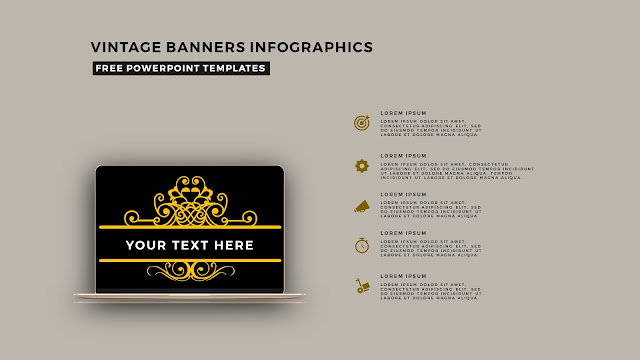Vintage Banners Infographic Free PowerPoint Template Slide 23