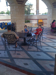 Sitting area at playground at Tivoli Village