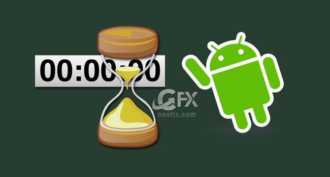Android Geri Sayım Sayacında Titreşim Aç Yada Kapat