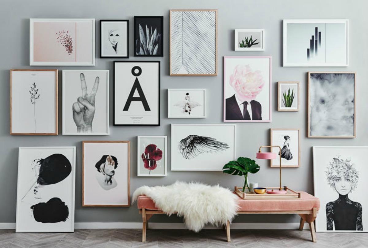 decorar paredes cmo crear una galera e imprimibles gratis - Decorar Paredes Con Fotos