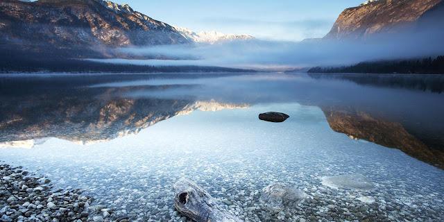 lake, water