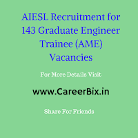 AIESL Recruitment for 143 Graduate Engineer Trainee (AME) Vacancies