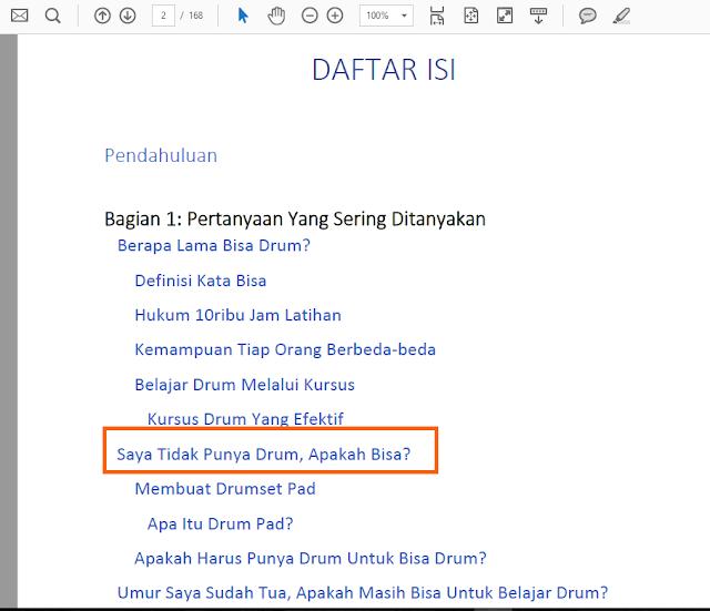 Daftar Isi E-book Belajar Drum Iman Prabawa