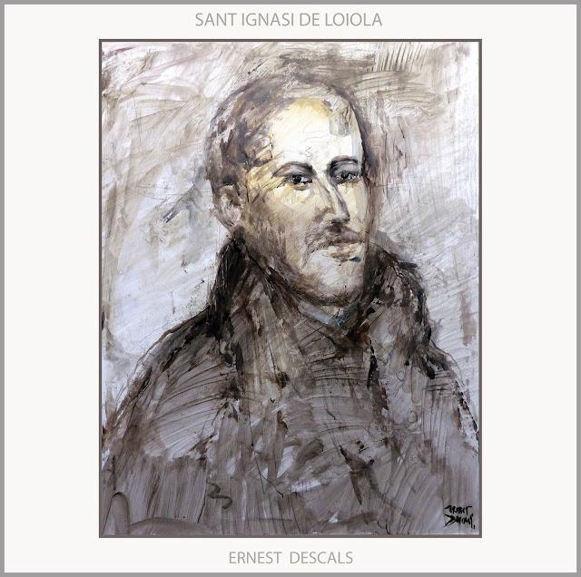 SANT IGNASI DE LOIOLA-PINTURA-ART-RETRAT-SAN IGNACIO DE LOYOLA-ARTE-PINTURAS-RETRATOS-ARTISTA-PINTOR-ERNEST DESCALS-