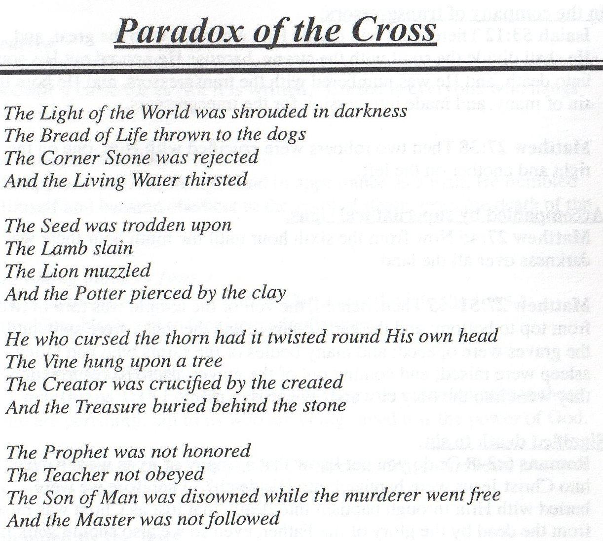 Catholic easter poems