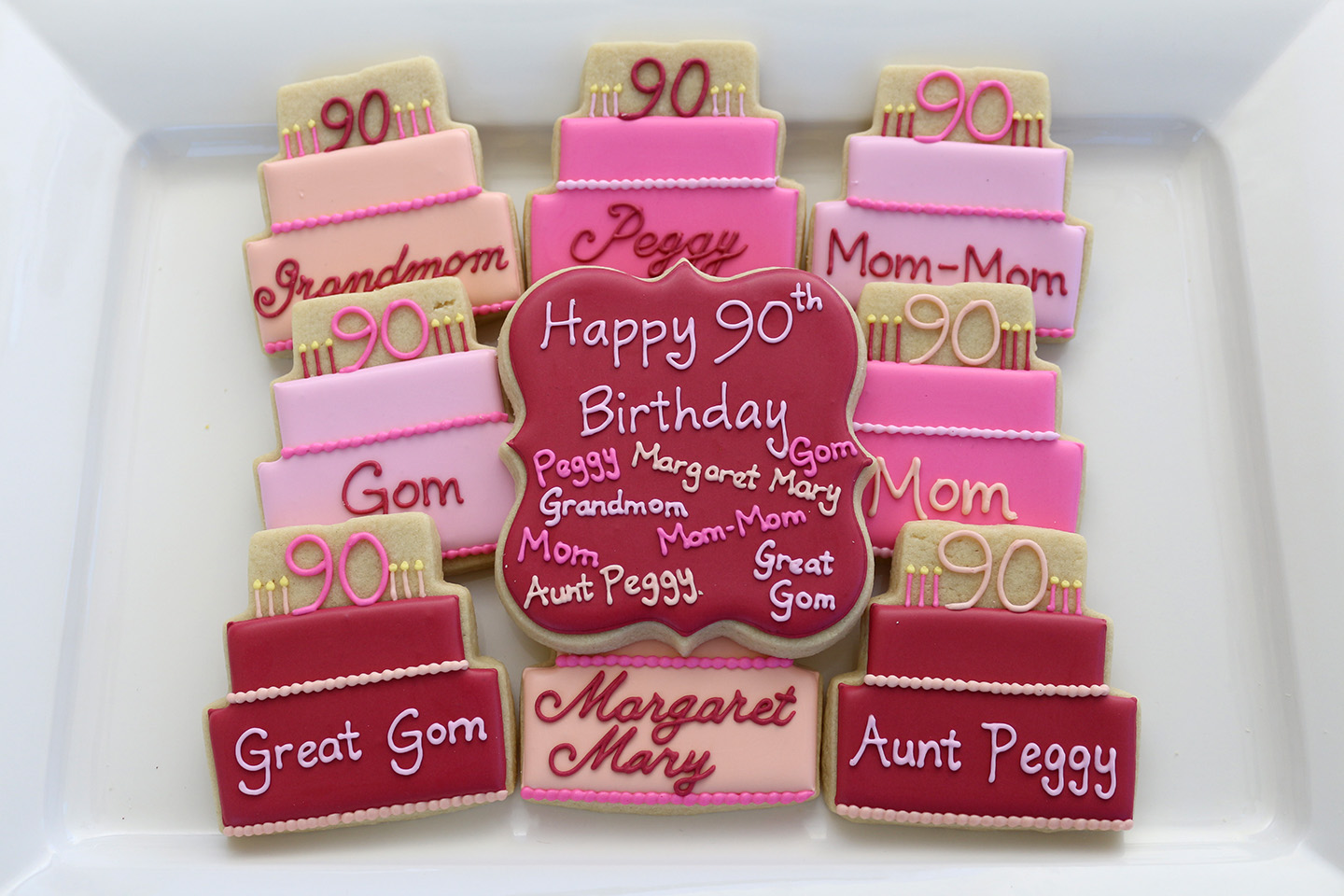 I Shared Her 90th Birthday Cookies My Mom Wears A Lot Of Different Hats And Means So Much To Many People Wanted Capture Names