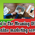 What is The Meaning Of SEO and online marketing services?
