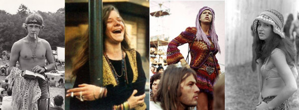 Look crochê festival música anos 60