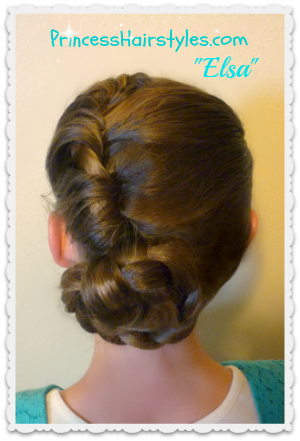Disney Frozen Hairstyle tutorial, Elsa