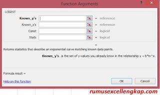Function Argument rums LOGEST