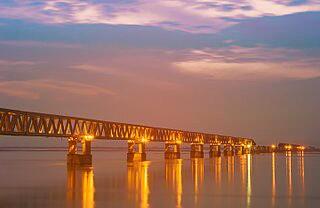 Bogibeel Bridge-Opening-Date-Location-and-India-longest-rail-road-bridge-in-Assam