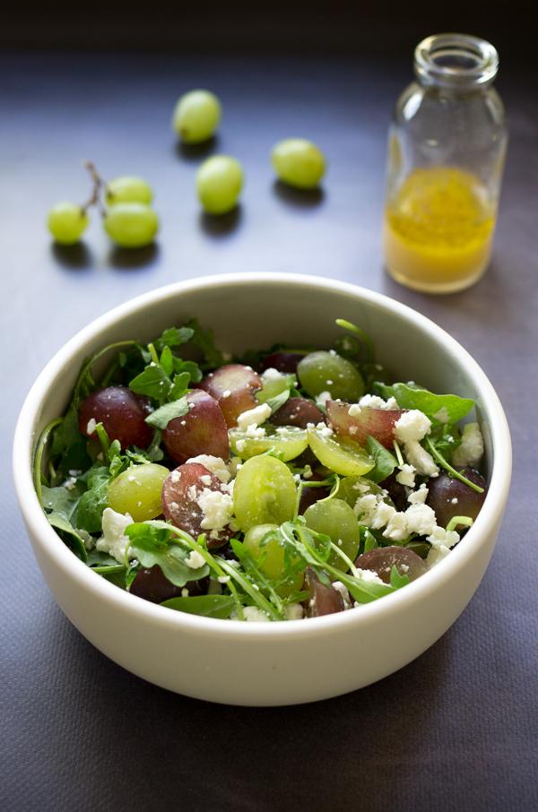 Chab 39 blog recette salade raisin feta et roquette - Salade ete facile ...