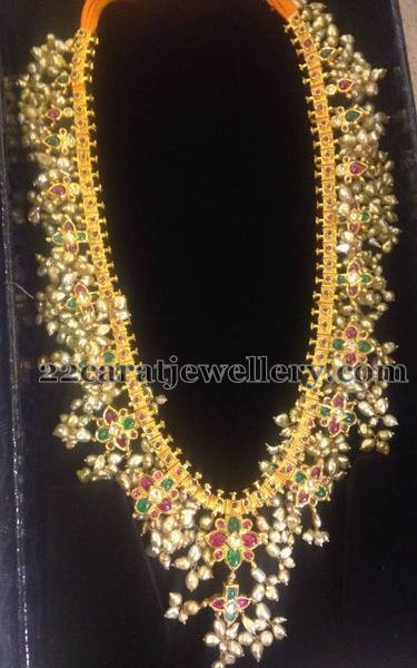 Long Gottapusalu With Rice Pearls Jewellery Designs