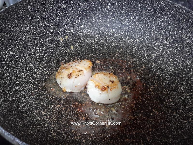 Sauteed scallops with butter and garlic DIY recipe 香蒜牛油煎帆立貝自家食譜