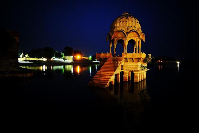 Gadi sagar night view