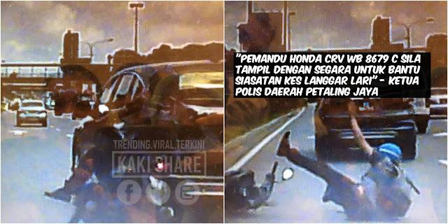 Wanted!! Pemandu Honda CRV WB 8679 C Diburu Pihak Polis