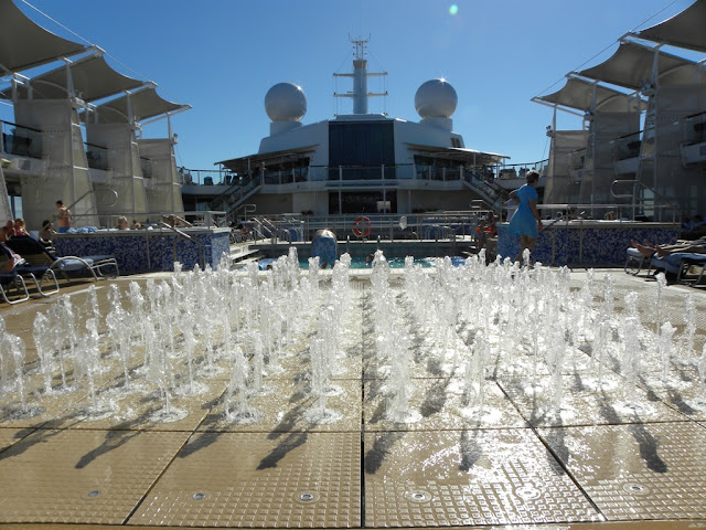 Celebrity Eclipse Fountains at swimming pools