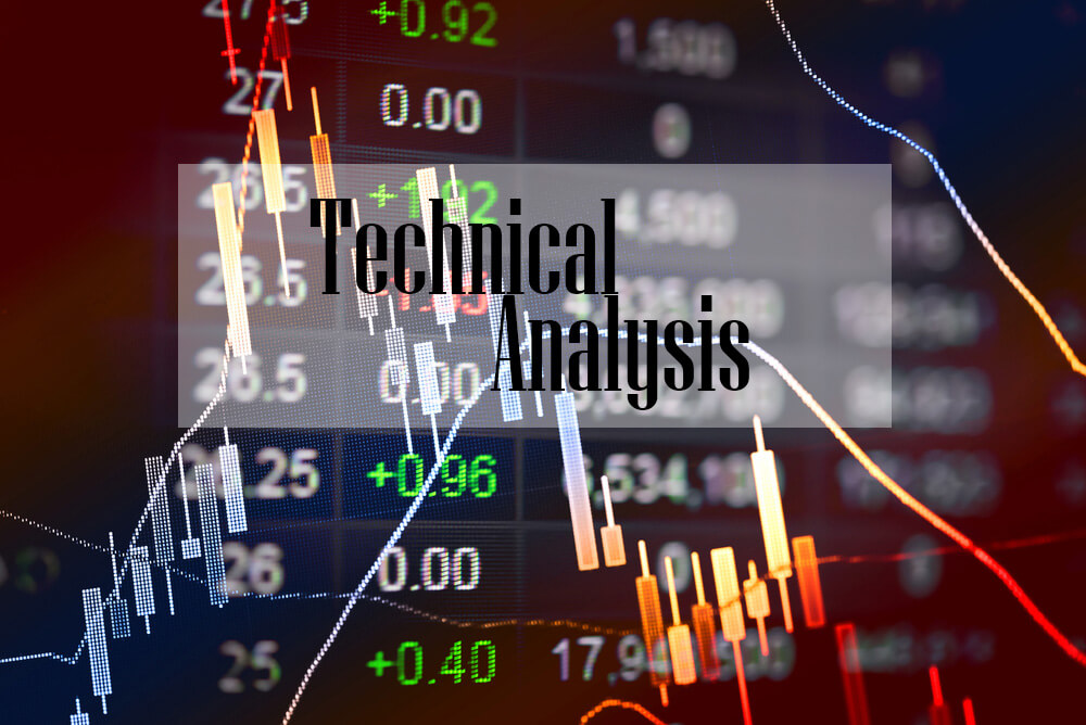 Graph and chart with the words Technical Analysis in the middle