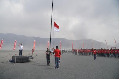 Upacara Bendera dalam Convoy Merdeka 2018