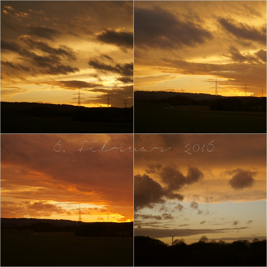 Blog + Fotografie by it's me! - Sonnenuntergang am 7.02.2016
