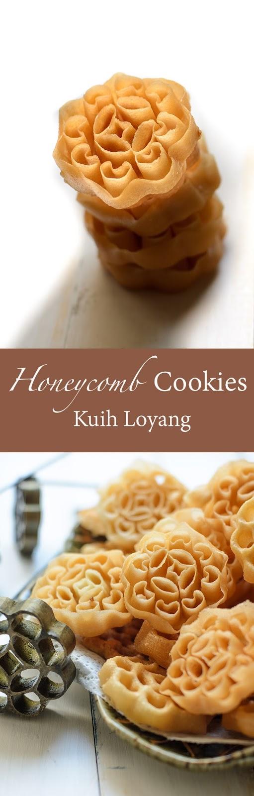 Honeycomb Cookies/ Kuih Loyang is crispy, light, sweet and taste creamy from coconut milk.