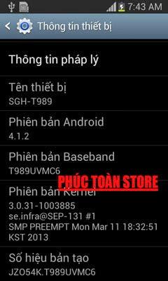 Tiếng Việt Samsung T989 alt