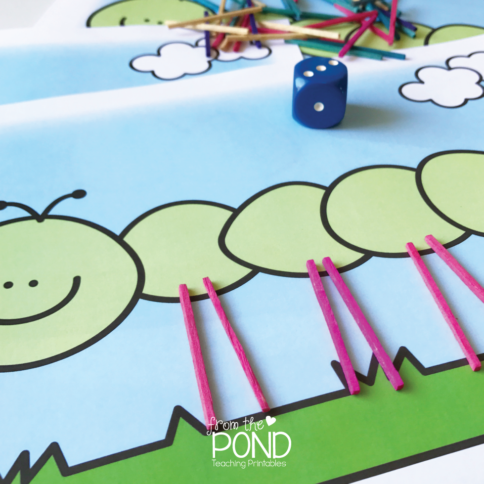 Caterpillar Number Game Freebie | From the Pond