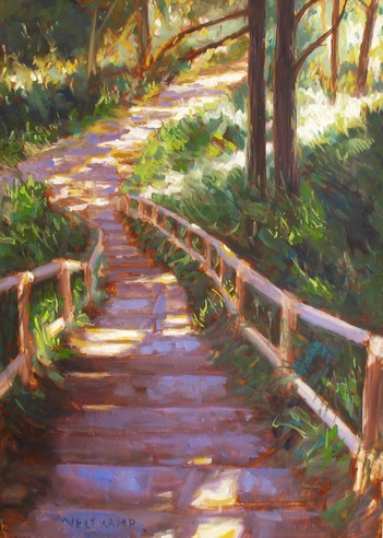 https://www.etsy.com/uk/listing/473107608/oil-painting-sunlight-on-forest-stair