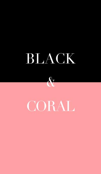 black & coral pink