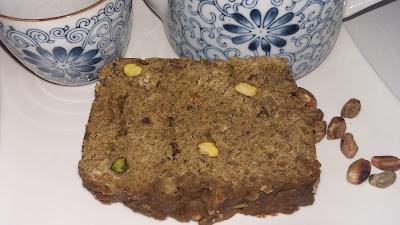 Bizcocho de té matcha y semillas de chía