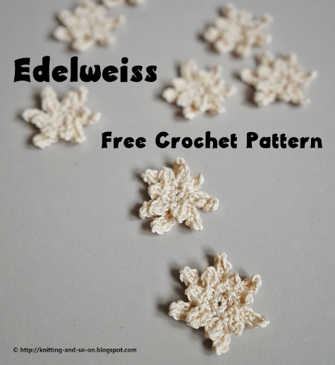 Knitting And So On Edelweiss Flower Ornament