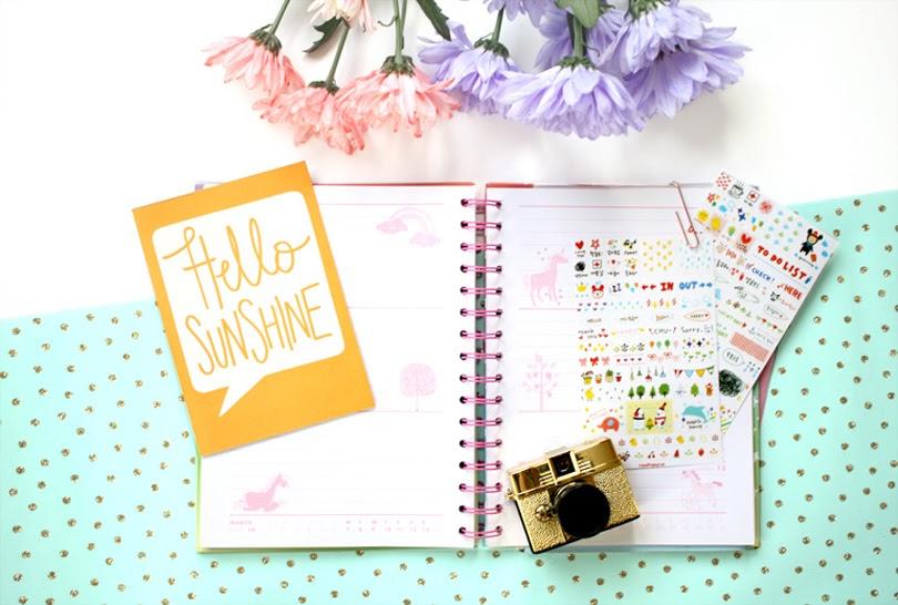 journal diary lifestyle flatlay