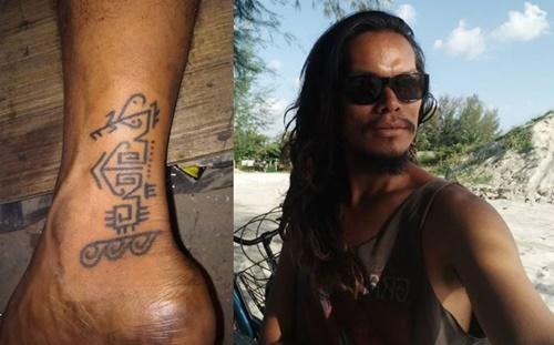 """""""My first tatoo. Ya Allah rasa hidop bila bertatu ni rupanya."""" - Isma Yusoof"""